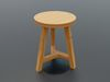 wooden_stool_3D_model